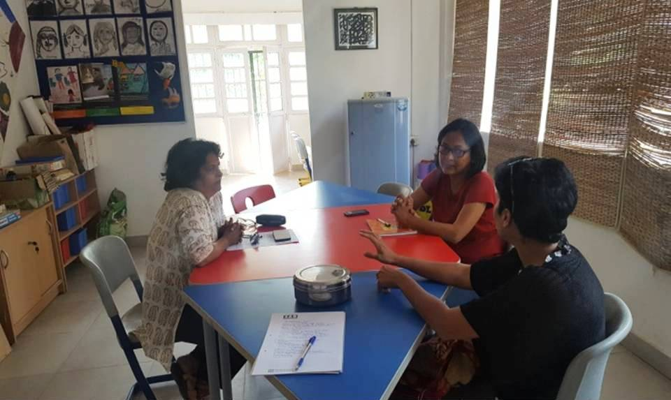 Mrs. Tallulah mentor a college student working on a thesis report for her assignment in the Goa College.