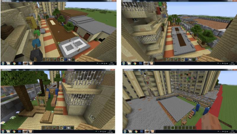 Together with the local community, block by block re-created the public space in Minecraft. Photo by: UN-Habitat
