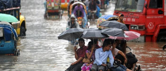 Bangladesh one of the most vulnerable city due to its exposure to threats such as flooding, storm surge, cyclones and landslides. (Photo: Tim Hume/CNN)